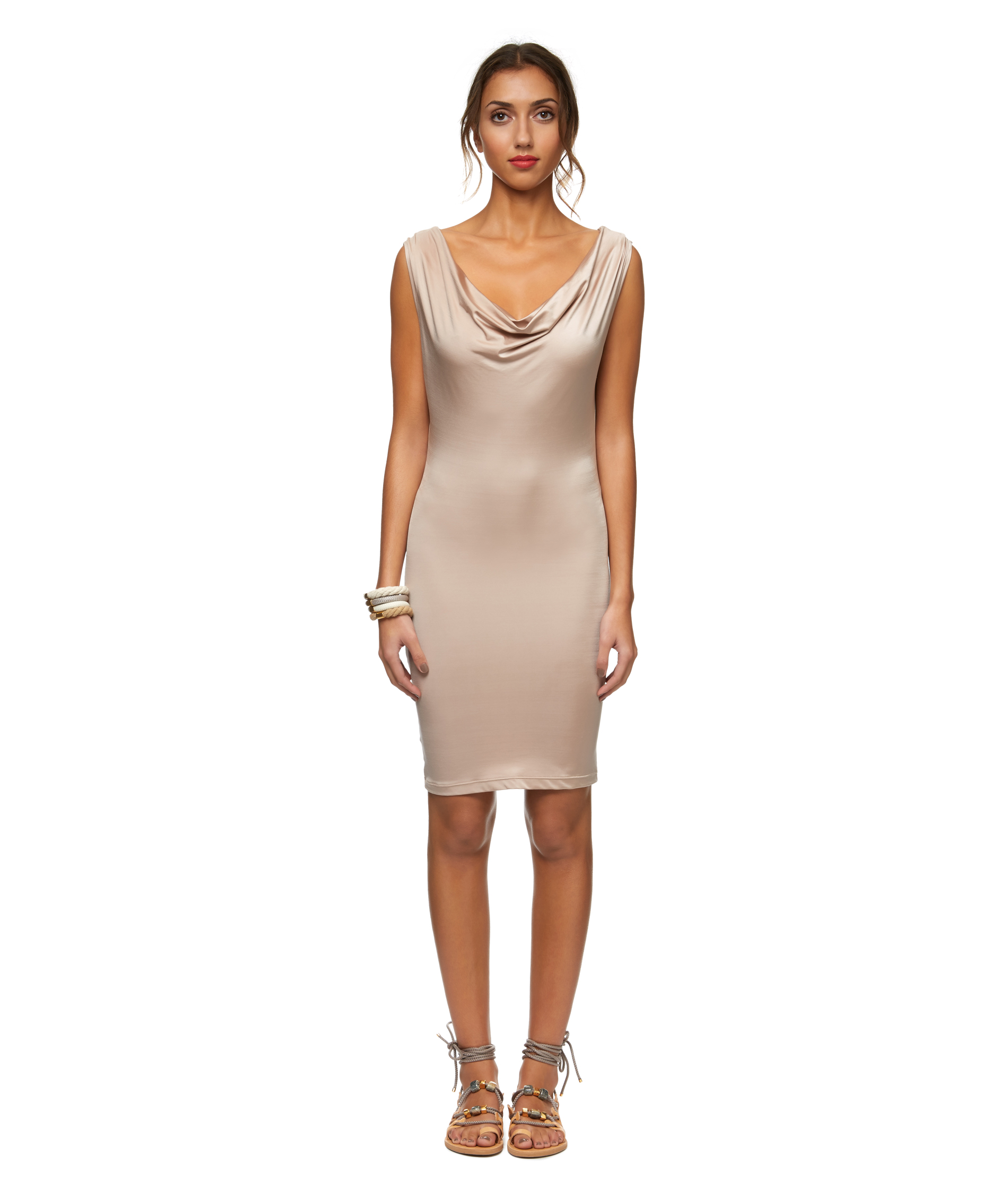Stephany     cover up cowl neck dress