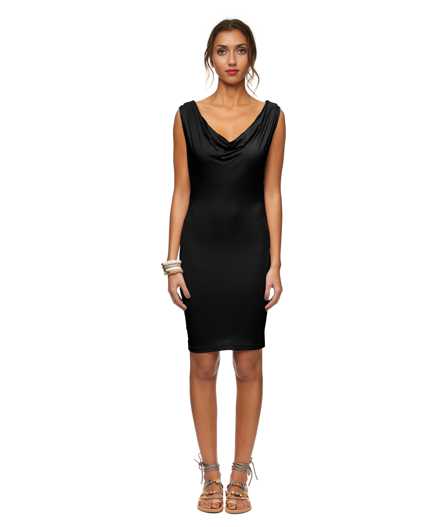 Stephany  |  cover up cowl neck dress