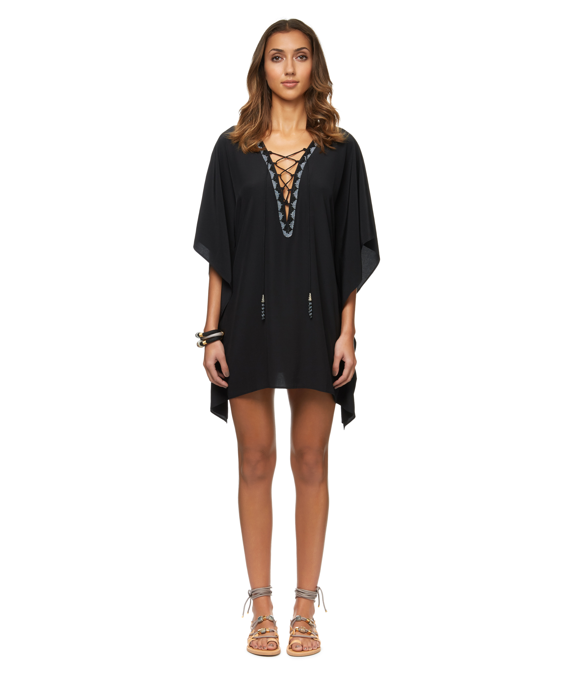 Formentera | Crepe Embroidered Kaftan